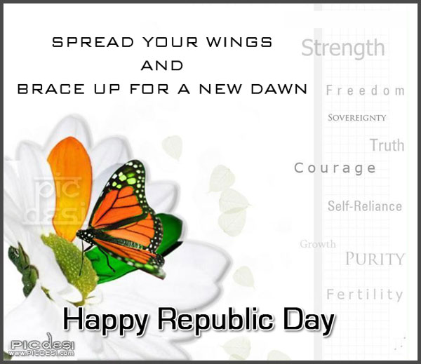 Happy Republic Day Spread your Wings Republic Day Picture