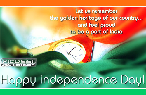 Let Us Remember Golden Heritage Independence Day Picture