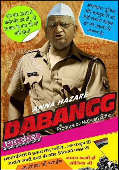 Anna as Dabangg India Funny Picture
