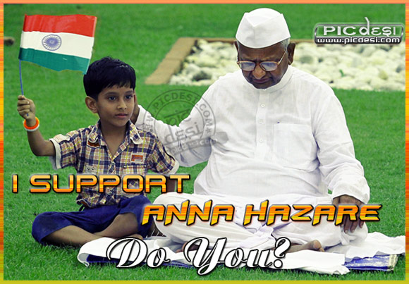 I Support Anna Hazare India Picture