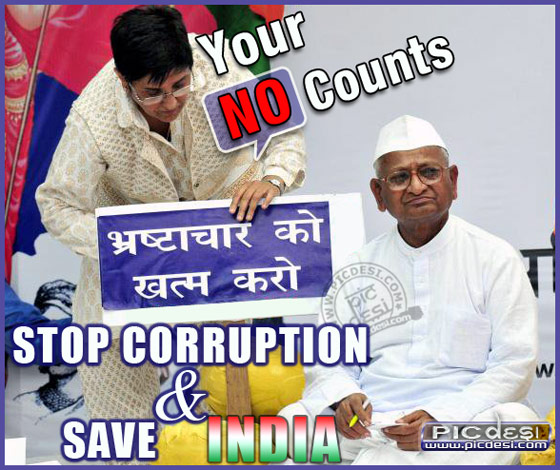 Corruption Your NO Counts India Picture