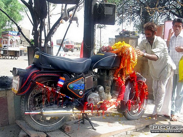 Bullet Baba Temple Rajasthan India Funny Picture