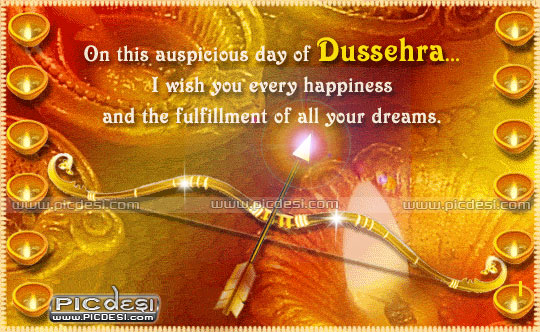 On Dussehra Wish you every happiness Dussehra Picture