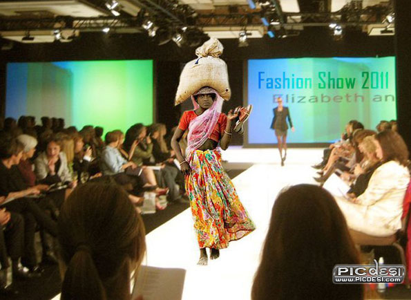 India Fashion Show Top Model India Funny Picture