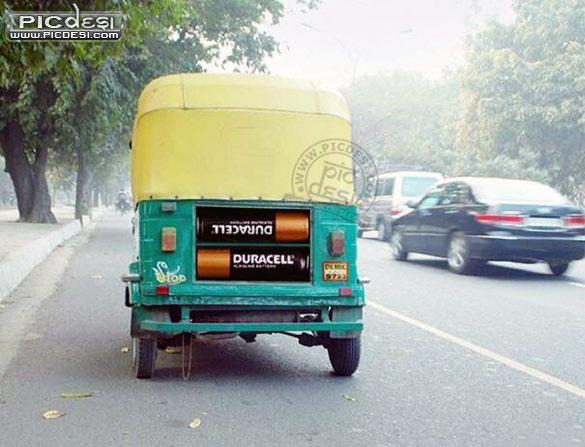 Duracell powered Auto India Funny Picture