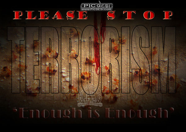 Please Stop Terrorism India