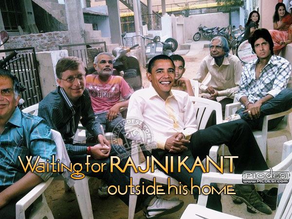 Waiting for Rajnikant India Funny Picture