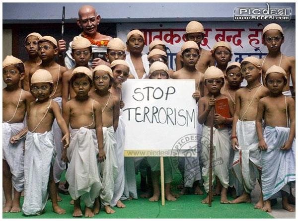 Stop Terrorism   Gandhi Kids India
