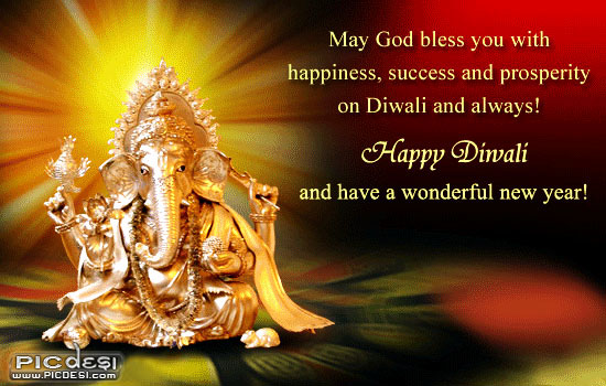May God bless you with... Diwali Picture