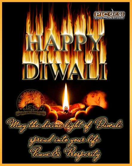 May the divine light of Diwali Diwali Picture