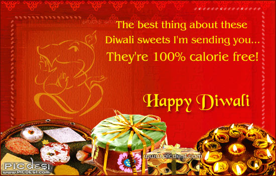 Happy Diwali Sending Sweets & Gifts Diwali Picture