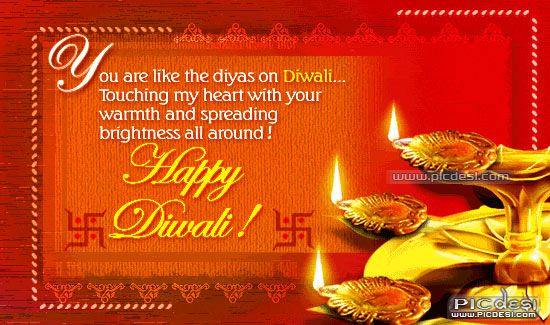 Happy Diwali You are Like Diyas Diwali Picture