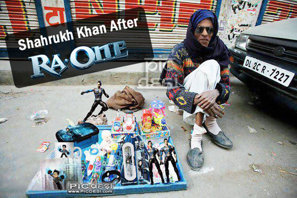 Shahrukh Khan after RA.One India Funny Picture
