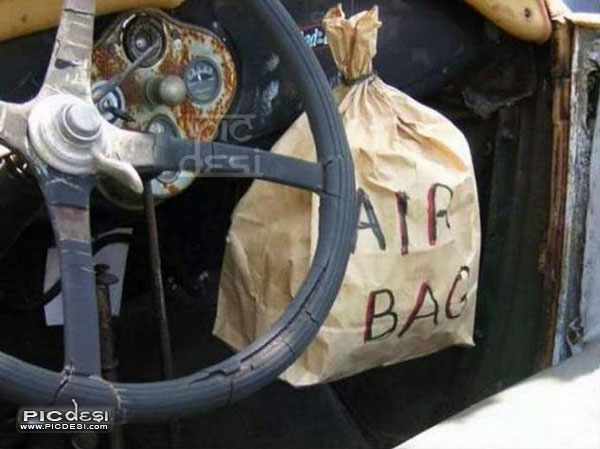 Indian Desi Air Bag System India Funny Picture
