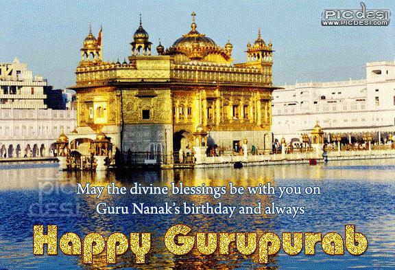 Happy Gurupurab Divine Blessings Gurpurab Picture