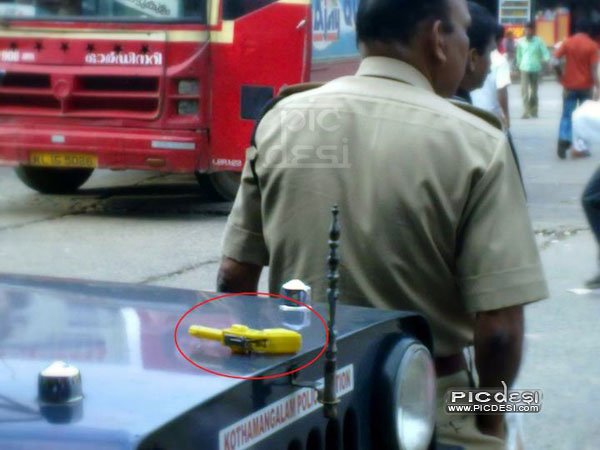 Indian Police with Hi Tech Weapon India Funny Picture