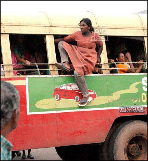 Indian Lara Croft Bus Raider India Funny Picture