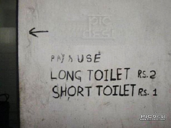 Funny Sign Long Toilet India Funny