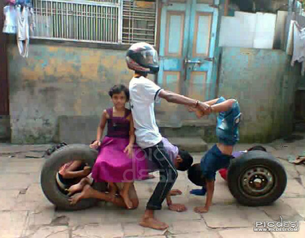 Desi Creative Human Bike India Funny Picture