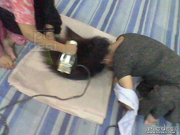 Indian Style of Hair Straightening India Funny