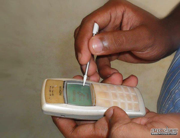 Nokia 1100 New Model Touch Screen India Funny
