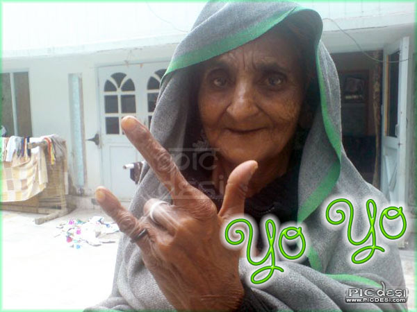 Modern Daadi Yo Yo India Funny Picture