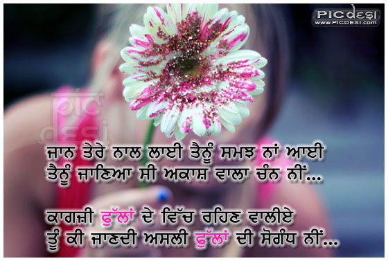 Ki Jaane Asli Fullan Di Punjabi Sad Picture