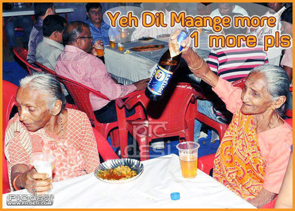 Old Woman with Beer   Dil Maange more India Funny