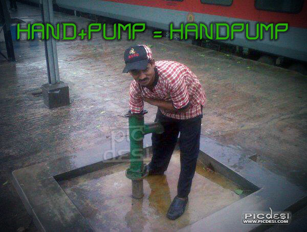 Hand Pump Explained India Funny Picture