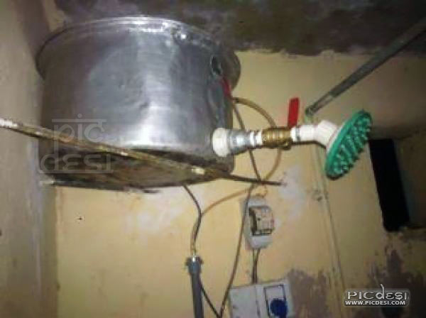 Desi Shower Jugaad India Funny