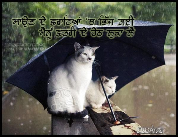 Saun de chharate ch bhijj gayee Punjabi Funny Picture