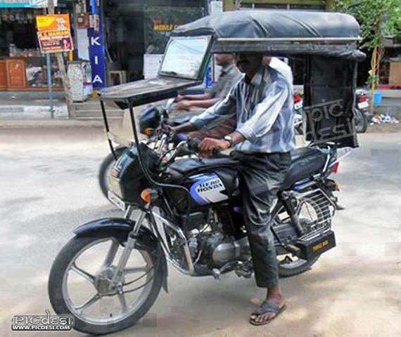 Bike modified as Jeep Funny India Funny Picture