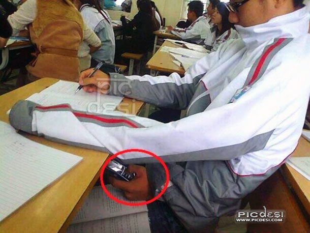 Copying in Exam Funny Jugaad India Funny Picture