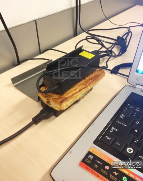 Use Laptop Adapter for Hot Snacks Funny India Funny Picture