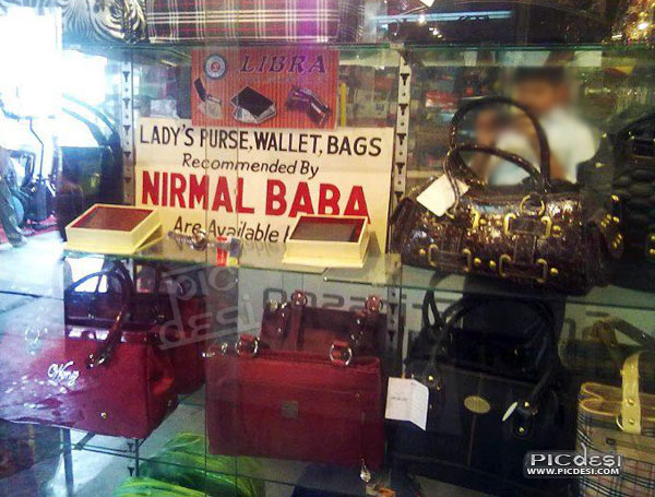 Purse by Nirmal Baba Available Here India Funny Picture