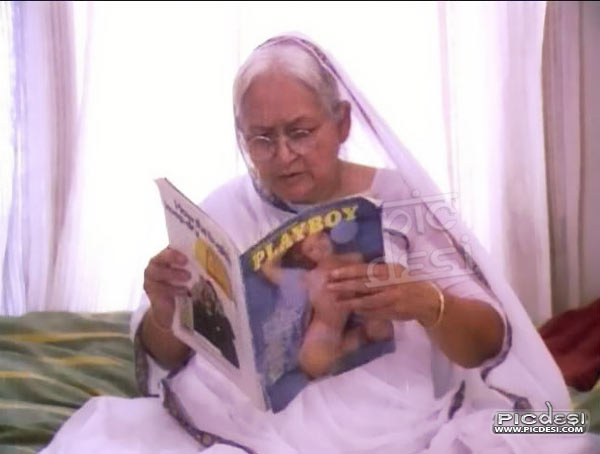 Old Woman Playboy Funny India Funny Picture