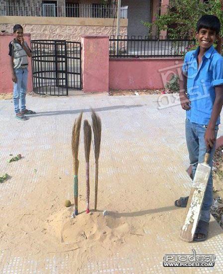Cricket Street Play Desi Jugaad India Funny