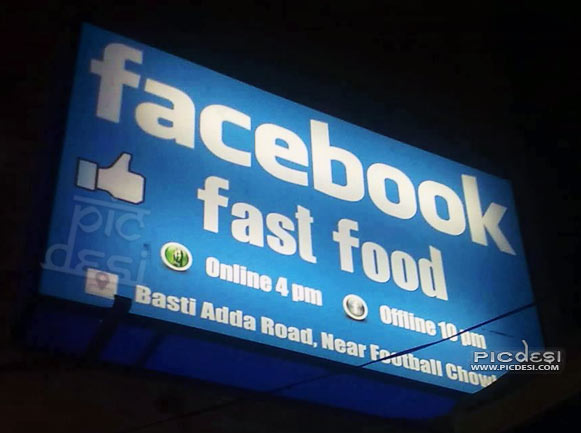 Facebook Fast Food in Punjab India Funny  Picture