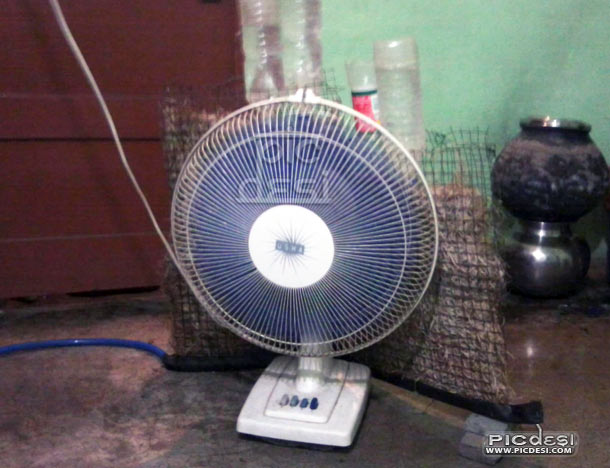 Fan used as Cooler Desi Jugaad India Funny