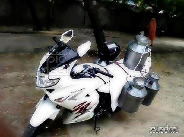 Modern Milkman Only in India India Funny Picture