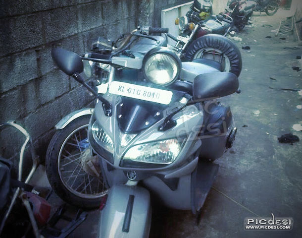 Scooter modified as Bike India Funny Picture