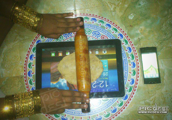 iRoti Ipad Use in India India Funny Picture