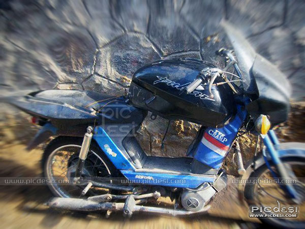 Scooty modified as pulsar India Funny Picture