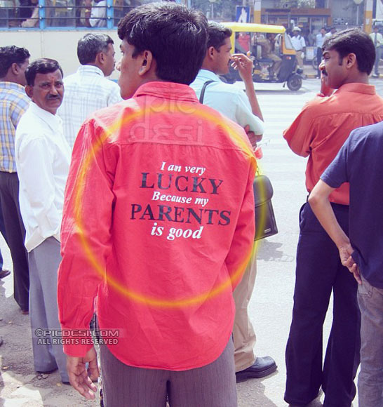 Funny English on Shirt India Funny