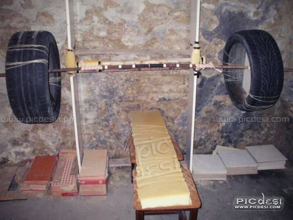 Weight Lifting System Desi Jugaad India Funny Picture