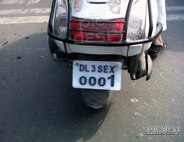 Number Plate Funny Number Series India Funny Picture