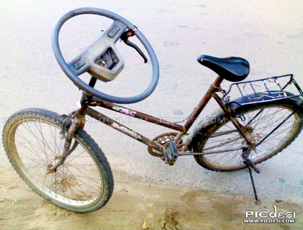 Cycle Jugaad Technology India Funny Picture