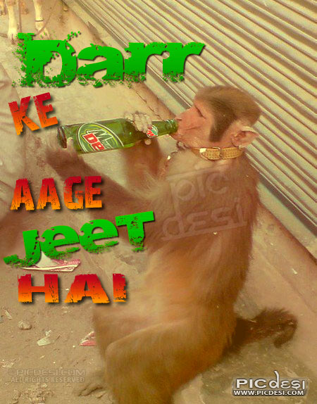 Darr ke aage jeet hai India Funny Picture