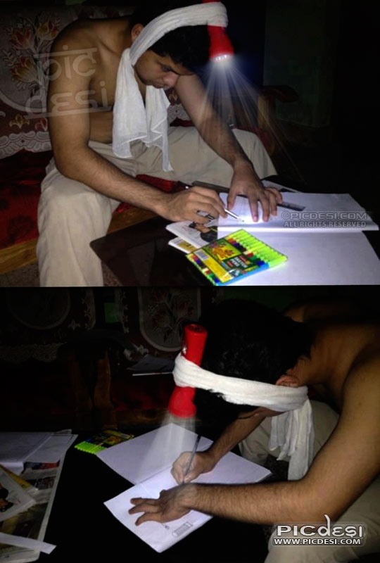 Study in Power Cut Desi Jugaad India Funny Picture