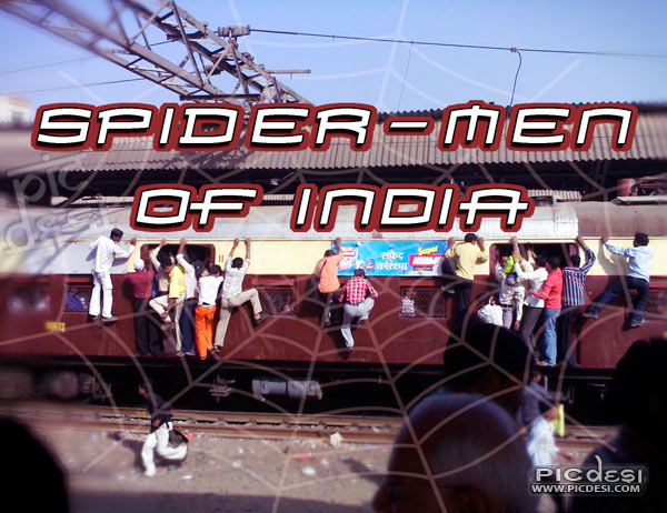 Spider Men of India India Funny Picture